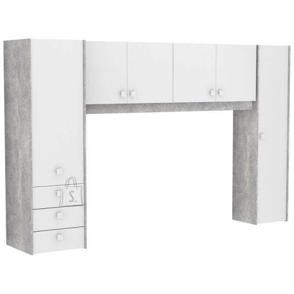 Demeyere Mööblikomplekt CONCRETE hall / valge, 300x55xH183 cm