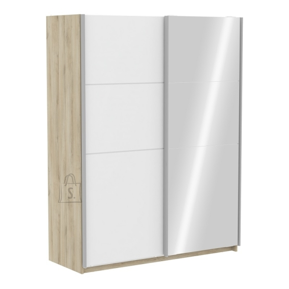Demeyere Riidekapp FAST 2 tamm / valge, 153,6x64,7xH203 cm