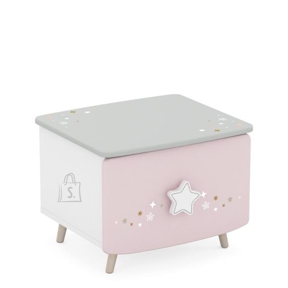 Demeyere Öökapp STELLA valge / roosa / hall, 45x39xH34 cm