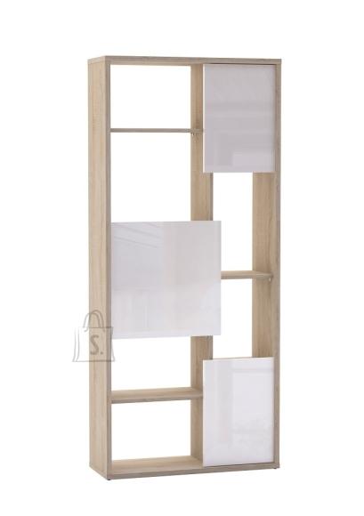 Demeyere Raamaturiiul TREND tamm/valge, 80x29,5xH180 cm