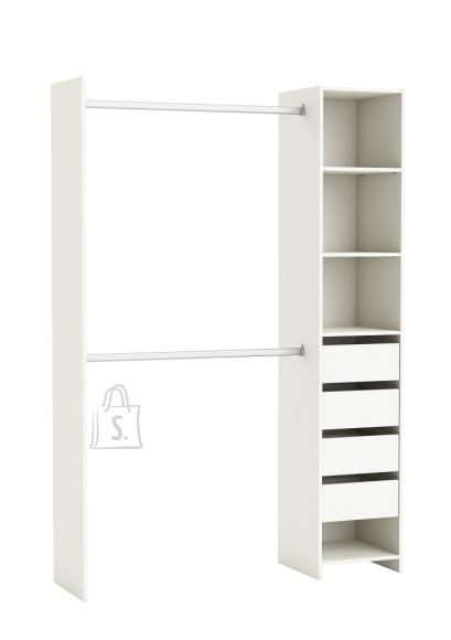 Demeyere Garderoobisüsteem IDEPLUS valge, 142x40xH203 cm