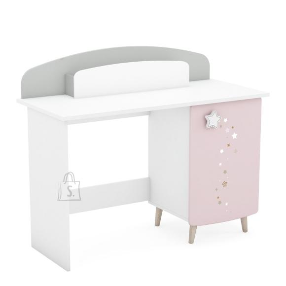 Demeyere Kirjutuslaud STELLA valge / roosa / hall, 113x50x94,5 cm