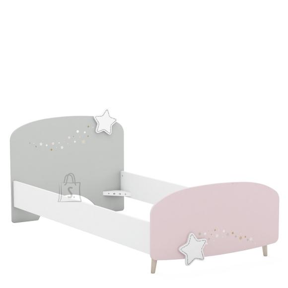 Demeyere Lastevoodi STELLA valge / roosa / hall 90x200 cm