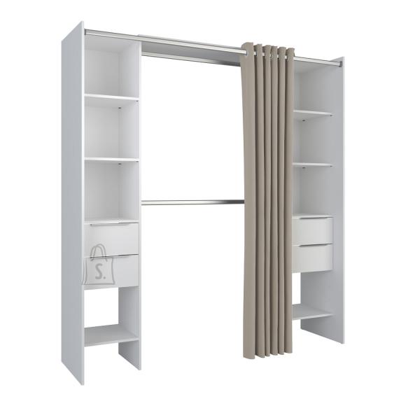 Demeyere Garderoobisüsteem DANA valge, 115-190x50xH190 cm