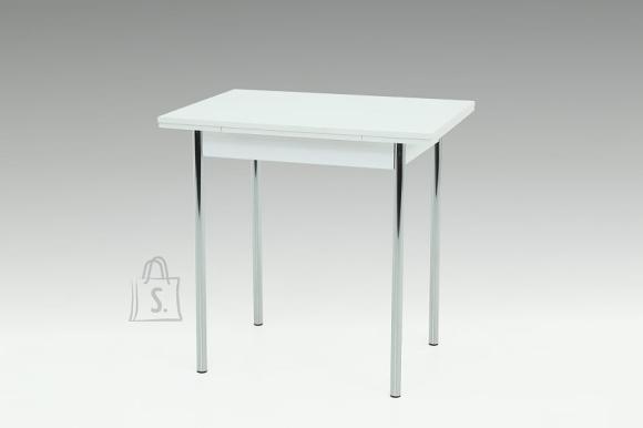 MCA Laud BONN valge / kroom, 75-112x55xH76 cm