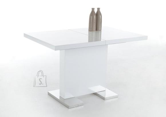 MCA Laud IRIS valge läikega, 120-160x80xH75 cm