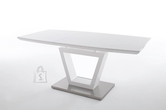 MCA Laud NICOLO valge läige, 140-180x90xH76 cm