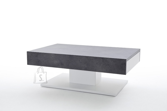 MCA Diivanilaud LANIA valge / hall, 110x70xH40 cm