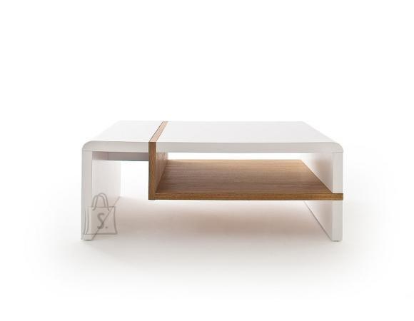 MCA Diivanilaud ROBELA valge / tamm, 100x70xH38 cm