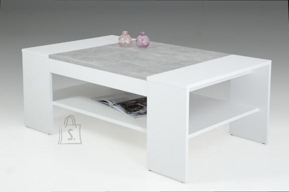 MCA Diivanilaud OLIVER valge / hall, 111x67xH44 cm