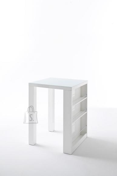 MCA Baarilaud CLUB valge, 80x80xH107 cm