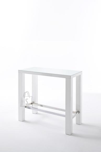 MCA Baarilaud JAM valge, 120x60xH107 cm