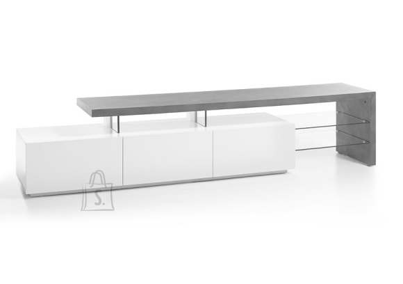 MCA Tv-alus ALIMOS valge / hall, 204x40xH44 cm