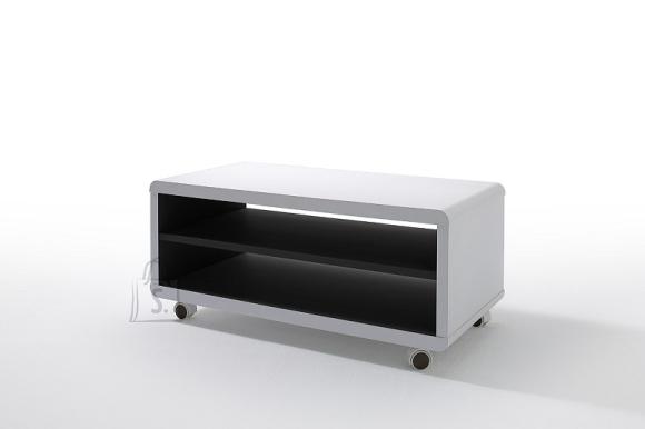 Tv-alus JEFF valge / must, 79x39xH35 cm