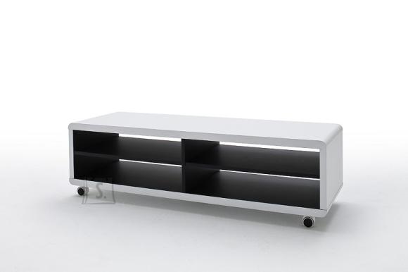 Tv-alus JEFF valge / must, 120x39xH35 cm
