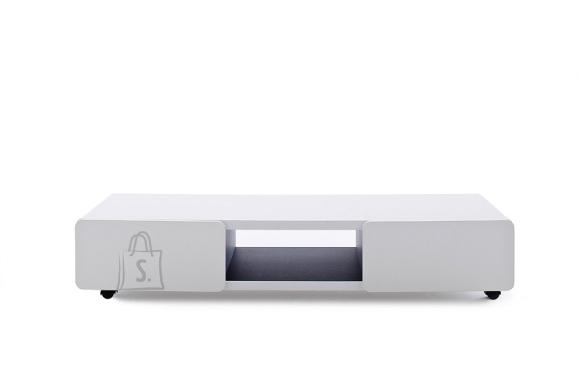 Tv-alus JEFF valge, 140x41xH28 cm