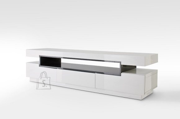 Tv-alus LAURA valge / hall, 200x50xH52 cm