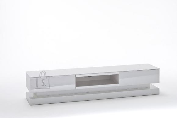 Tv-alus STEP valge, 180x39xH36 cm, LED