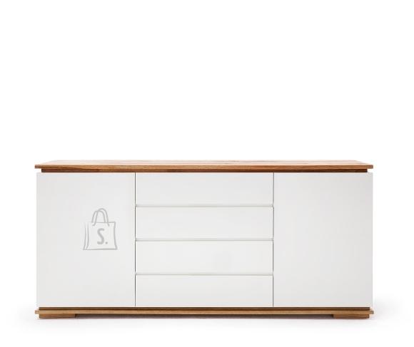 MCA Kummut CHIARO valge / tamm, 172x40xH81 cm