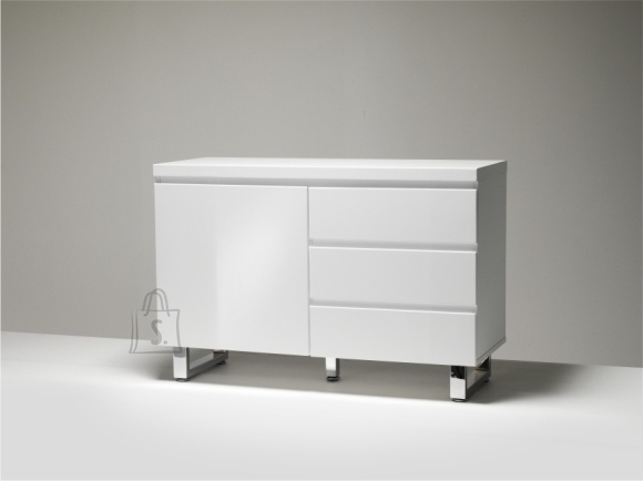 Kummut SYDNEY valge läige, 111x42xH74 cm