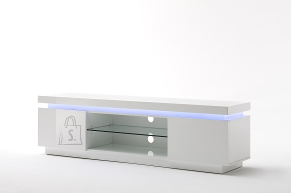 Tv-alus OCEAN valge läige, 175x40xH49 cm, LED