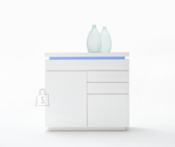 MCA Kummut OCEAN valge läige, 120x40xH114 cm, LED