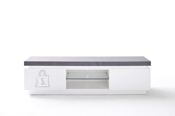 Tv-alus ATLANTA valge / hall, 175x40xH48 cm, LED