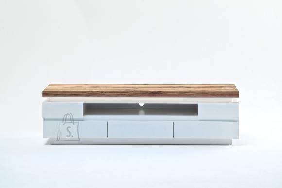 Tv-alus ROMINA valge / tamm, 175x40xH49 cm, LED