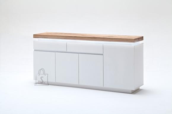 MCA Kummut ROMINA valge / tamm, 175x40xH81 cm, LED