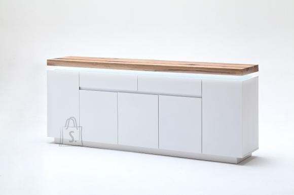 MCA Kummut ROMINA valge / tamm, 200x40xH81 cm, LED