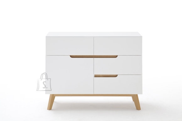 MCA Kummut CERVO valge / tamm, 97x40xH76 cm