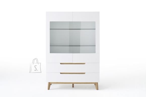 MCA Kapp CERVO valge / tamm, 107x40xH158 cm