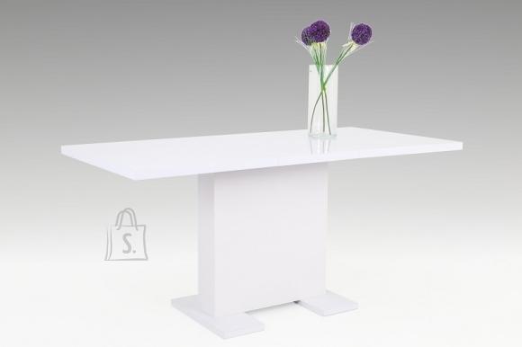 MCA Laud WIEBKE valge läige, 120-160x80xH76 cm