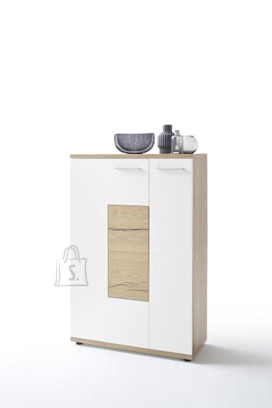 MCA Kapp NIZZA valge / tamm, 90x37xH135 cm