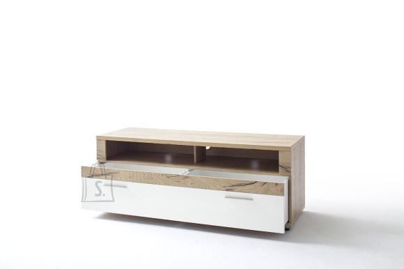Tv-alus NIZZA valge / tamm, 150x50xH56 cm