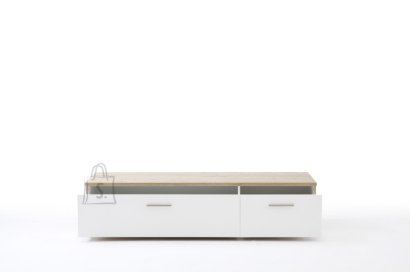 Tv-alus NIZZA valge / tamm, 180x50xH40 cm