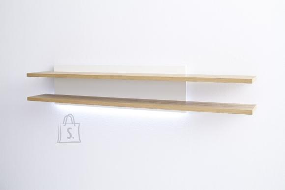 MCA Seinariiul NIZZA valge / tamm 180x27xH35 cm