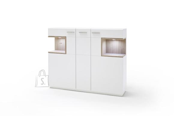 MCA Kapp CESINA valge / tamm, 150x37xH122 cm