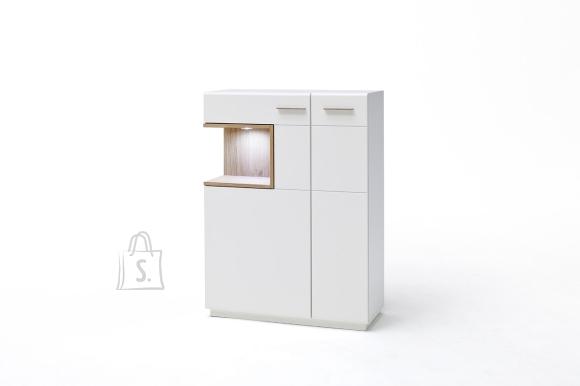 MCA Kapp CESINA valge / tamm, 90x37xH122 cm