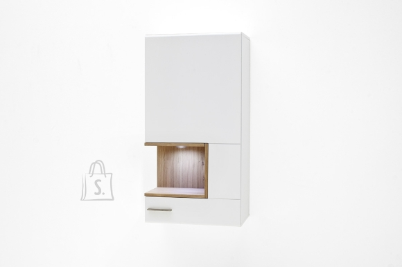 MCA Seinakapp CESINA valge / tamm, 60x37xH118 cm