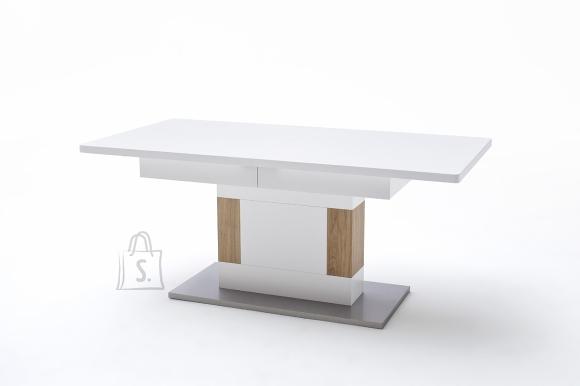 MCA Söögilaud CESINA valge / tamm, 180(230)x90xH79 cm