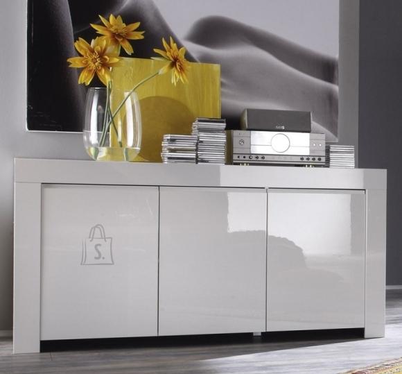 MCA Kummut AMALFI valge läikega, 160x50xH84 cm
