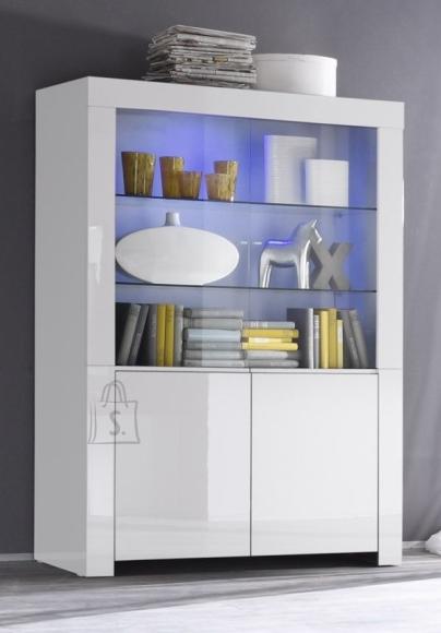 MCA Vitriinkapp AMALFI valge läikega, 123x50xH170 cm