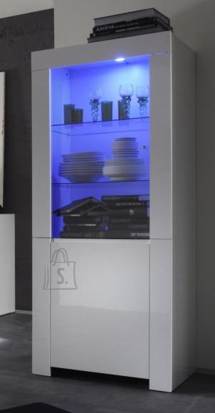 MCA Vitriinkapp AMALFI valge läikega, 70x50xH170 cm