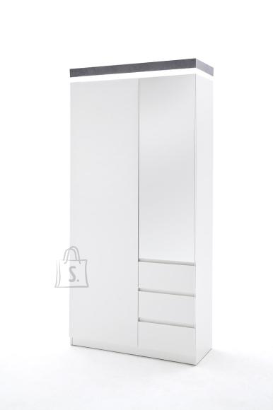 MCA Esikukapp ATLANTA valge / hall, 91x38xH198 cm, LED