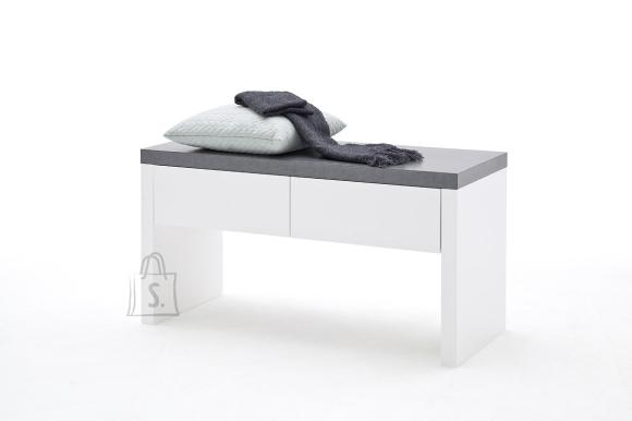 MCA Esikupink ATLANTA valge / hall, 91x38xH48 cm