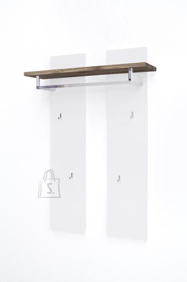 MCA Seinanagi ROMINA valge / tamm, 91x25xH135 cm