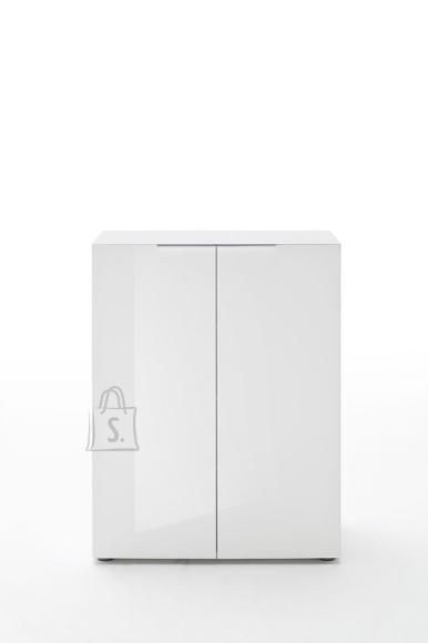 MCA Esikukapp VICENZA valge läikega, 80x39xH101 cm