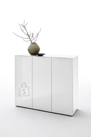 MCA Esikukapp VICENZA valge läikega, 120x39xH101 cm