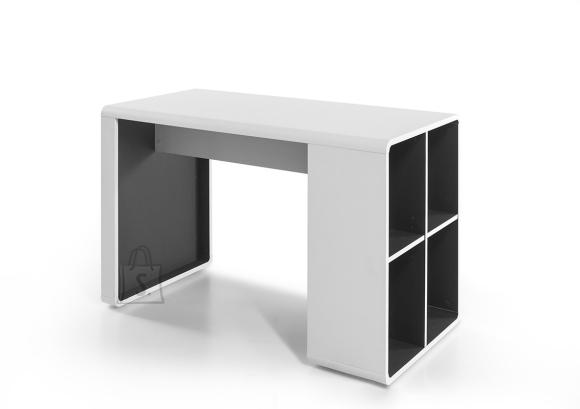 MCA Kirjutuslaud TADEO valge / antratsiit, 119x59xH76 cm